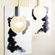 lampada sospesa / design minimalista / in ceramica / da interno