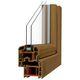 finestra a battente / in PVC / a doppi vetri / acustica