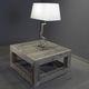 tavolino basso moderno / in legno / quadrato / da interno