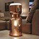 lampada da tavolo / moderna / in metallo cromato / in vetro soffiato