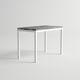 tavolo alto moderno / in alluminio / rettangolare / da giardino