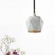 lampada a sospensione / moderna / in calcestruzzo / fatta a mano