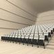 sedia per auditorium pieghevole / imbottita / con tavoletta / con poggiatesta