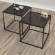 tavolino basso / moderno / in metallo / quadrato
