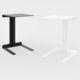 tavolo d'appoggio moderno / in alluminio / rettangolare / bianco