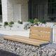 panca pubblica / da giardino / moderna / in acciaio galvanizzato