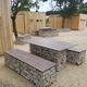 tavolo da picnic design originale / in acciaio galvanizzato / in pietra / in HPL