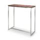 tavolo alto moderno / in legno / in acciaio inossidabile / rettangolare