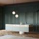 cucina moderna / in legno / in vetro / con isola
