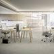 scrivania per open space / in quercia / in faggio / moderna