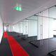 parete fissa / in vetro / per sala riunioni