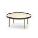 tavolino basso moderno / in quercia / rotondo / da interno
