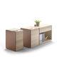 armadio classificatore basso / in legno / in pelle / moderno