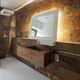 lavabo sospeso / rettangolare / in legno / moderno