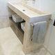lavabo da terra / rettangolare / in pietra naturale / moderno