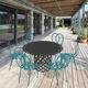 tavolo da pranzo moderno / in alluminio verniciato / rotondo / da esterno