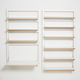sistema di scaffali a muro / moderno / in legno / per uso residenziale
