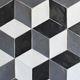 piastrella da parete / in ceramica / a tinta unita / patchwork