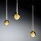 lampada a sospensione / moderna / in vetro borosilicato / fatta a mano