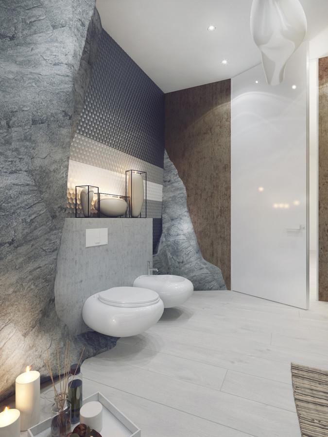 5 stanze da bagno di lusso in dettaglio alto - Ukraine