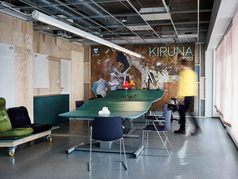 Ufficio Di Un Architetto : Il bianco costruisce un ufficio di architettura per kiruna come i