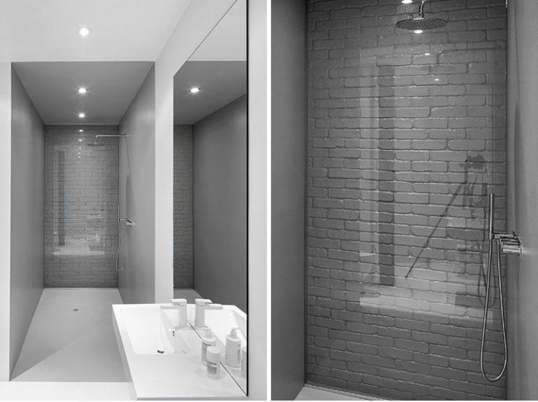 spesso Idea di progettazione del bagno – usi di vetro per coprire un muro  JR33