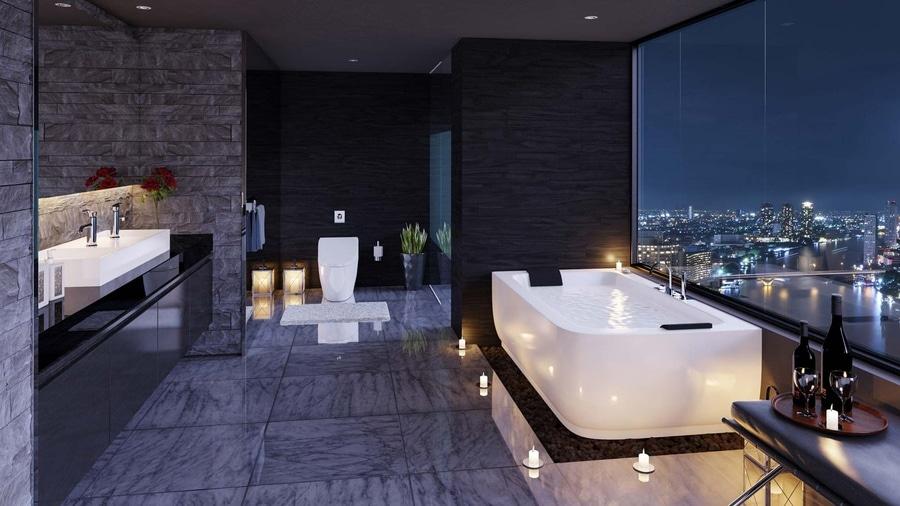 Sala Da Bagno Lusso : Ispirazione ultra di lusso della stanza da bagno florida usa