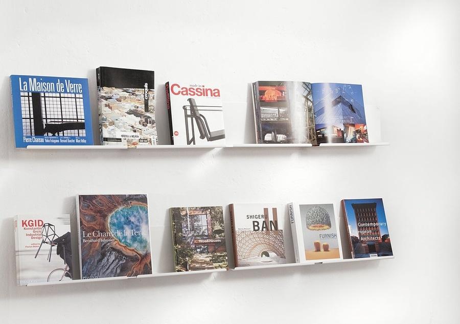 Mensole a muro per l esposizione di libri teebooks