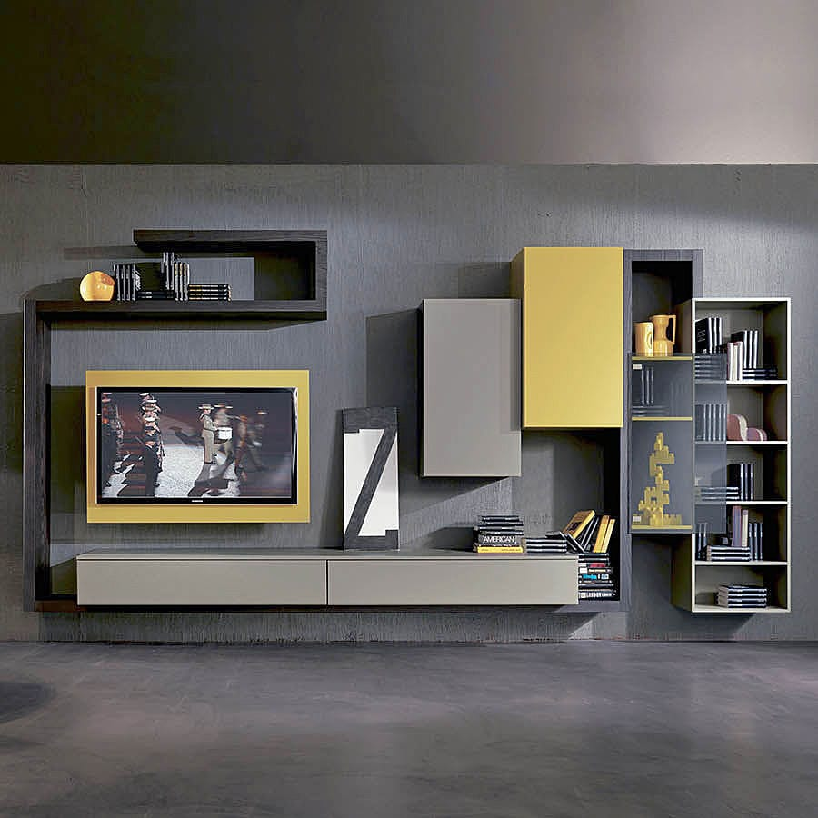 NOVITÀ: parete attrezzata TV moderno by Fimar Srl - Fimar Srl