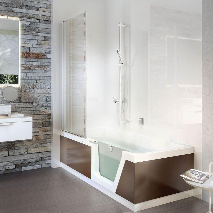NOVITÀ: vasca da bagno doccia da appoggio by DUSCHOLUX AG - DUSCHOLUX AG