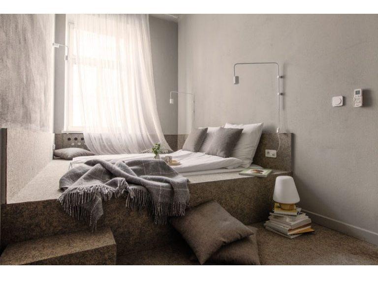 Piccola idea di progettazione della camera da letto – un letto di ...