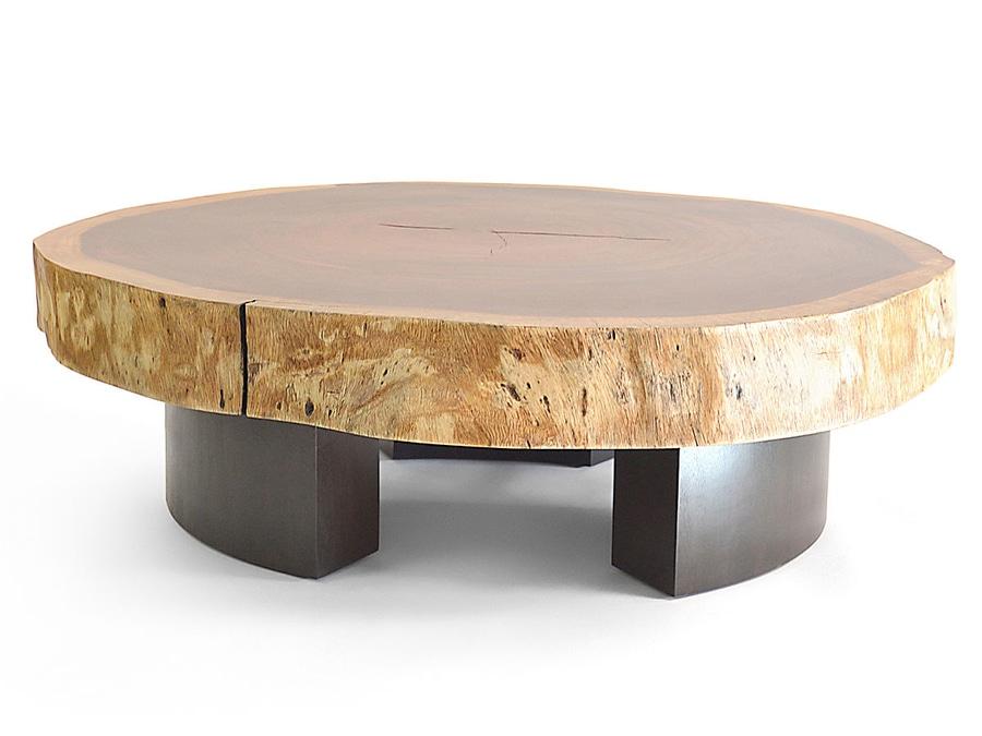 Tavolino da salotto di Tamburil Bolacha - piedini di legno ...