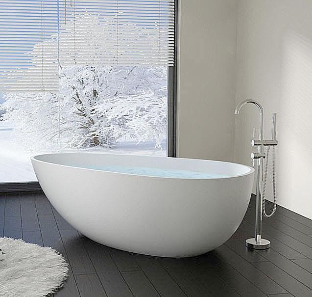 vasca da bagno indipendente da resina di pietra