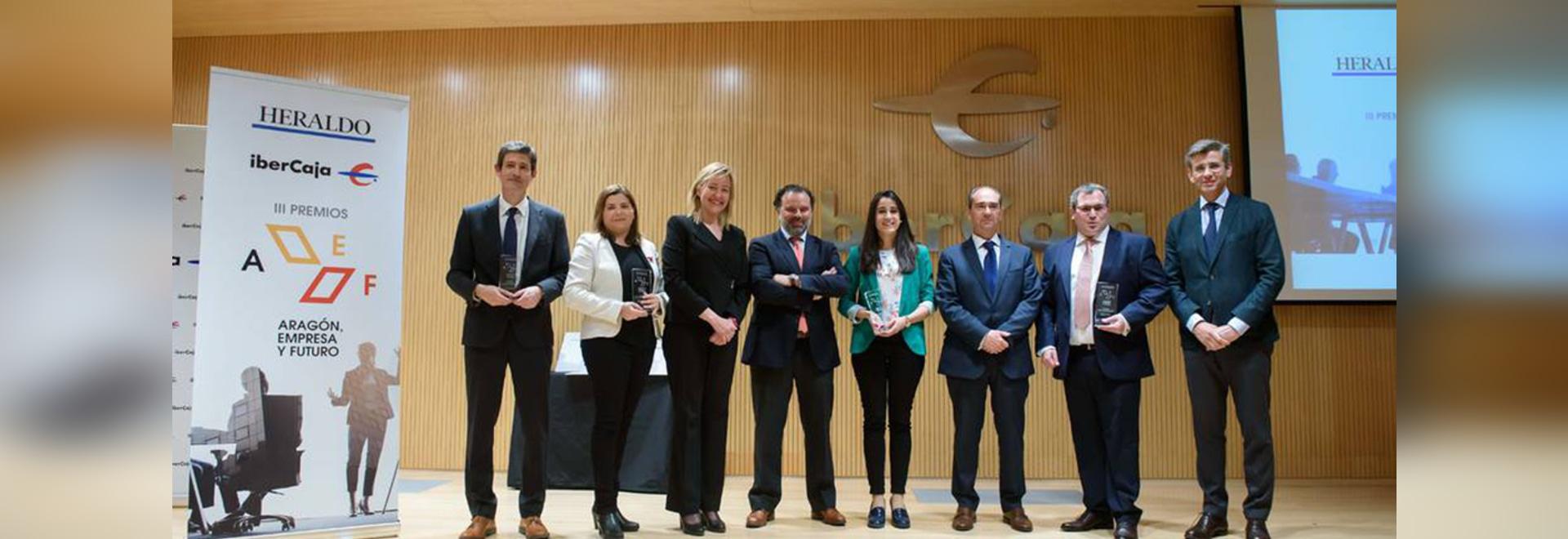 Airfal riceve l'impresa di Aragón ed il premio futuro per quanto riguarda responsabilità sociale