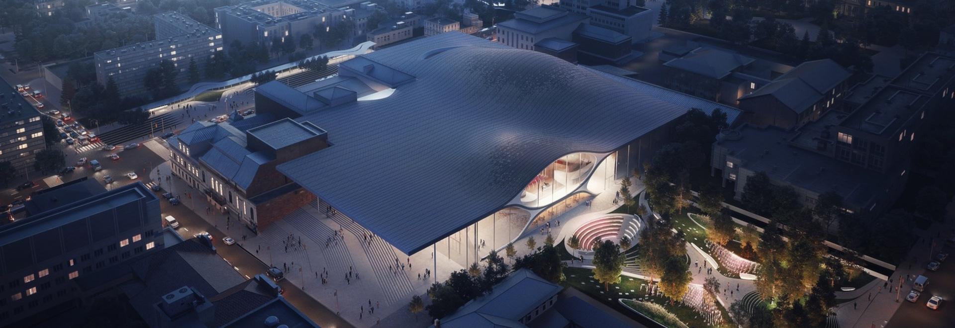 architetti del hadid di zaha per costruire da sala da concerto filarmonica ispirata soundwave in Russia