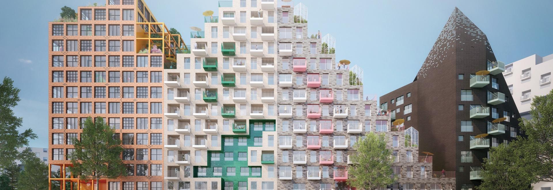 Blocchetto di Manuelle Gautrand Designs Futuristic Housing per Amsterdam