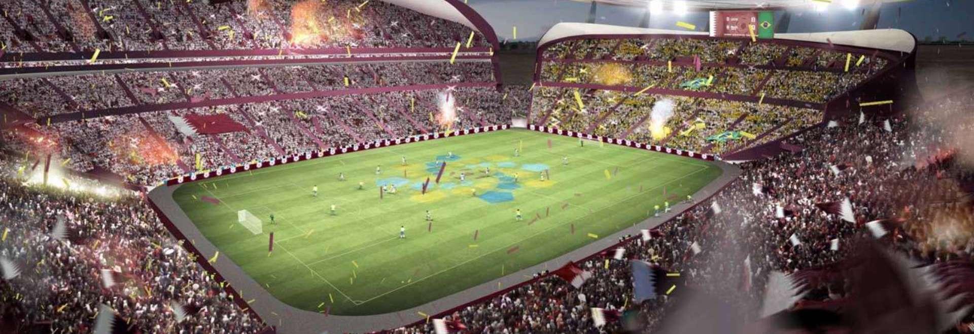 Il disegno precedente per lo stadio di Lusail