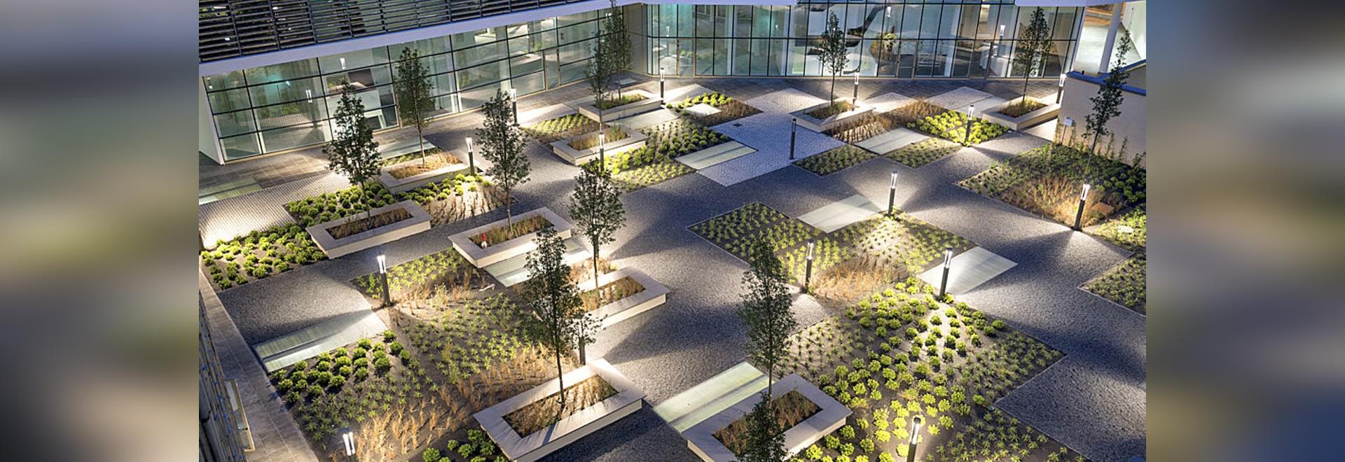 Edificio per uffici verde del posto, Milano