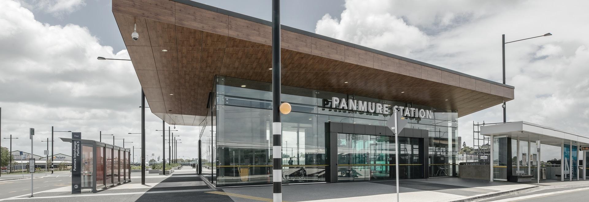 Laminam per la facciata arieggiata della stazione di Panmure a Auckland, Nuova Zelanda