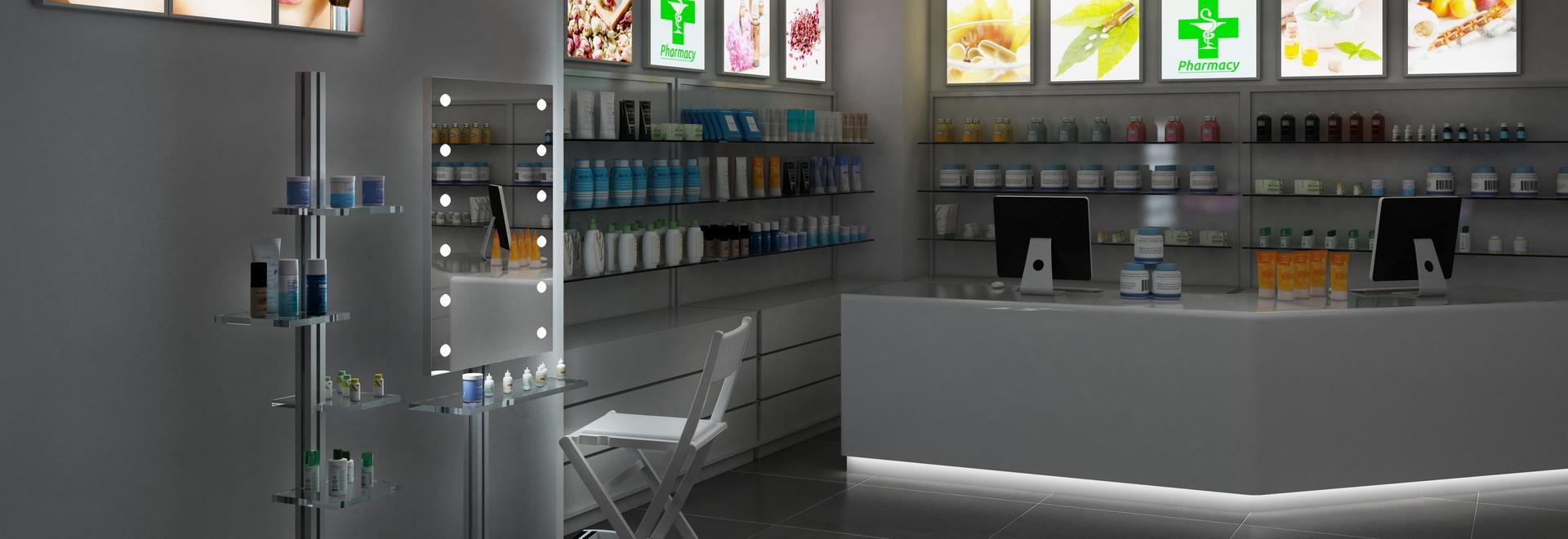 Lo specchio makeup in farmacia