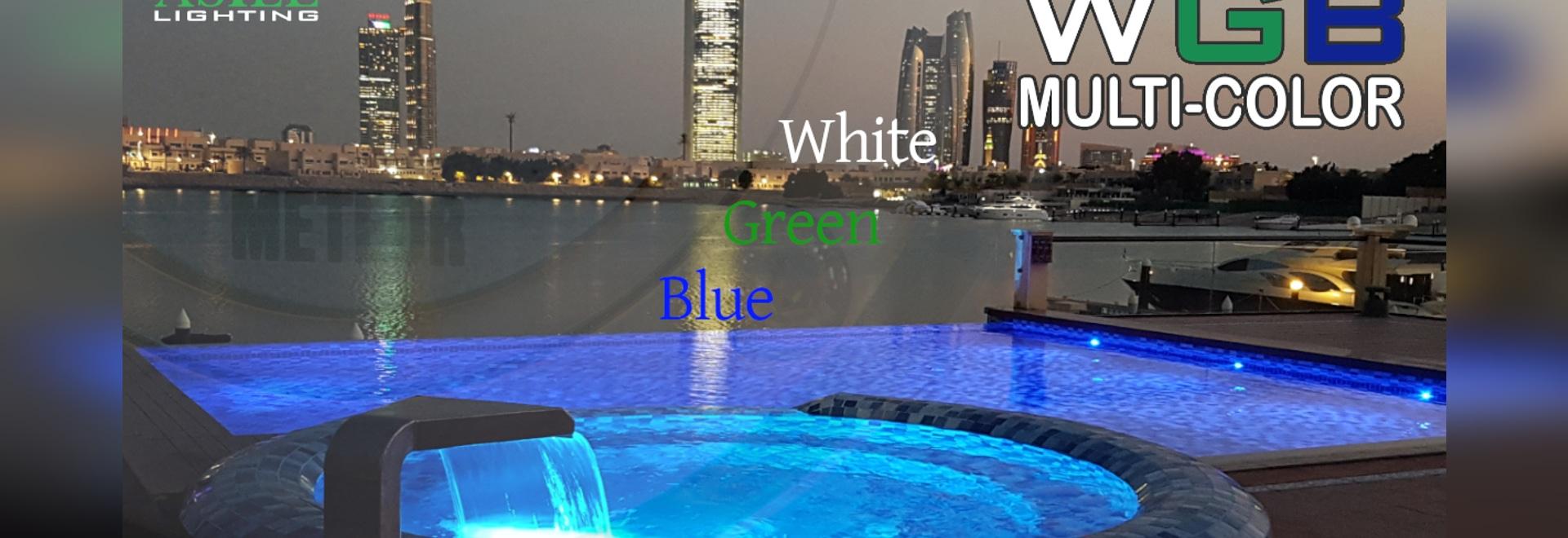 La luce subacquea unica METEOR anche in WGB multi-colore