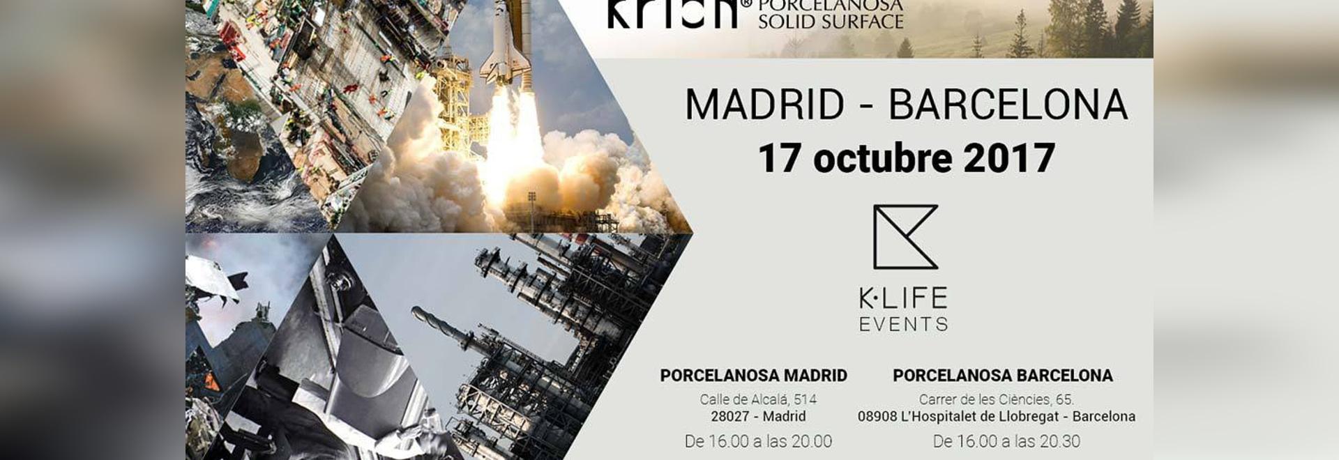 Il prossimo 17 Ottobre, presentazione simultanea di KRION K-LIFE a Madrid e Barcellona