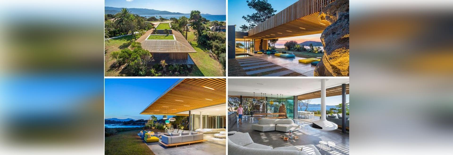 Questa casa Mediterranea moderna permette che la brezza dell'oceano passi giusto attraverso