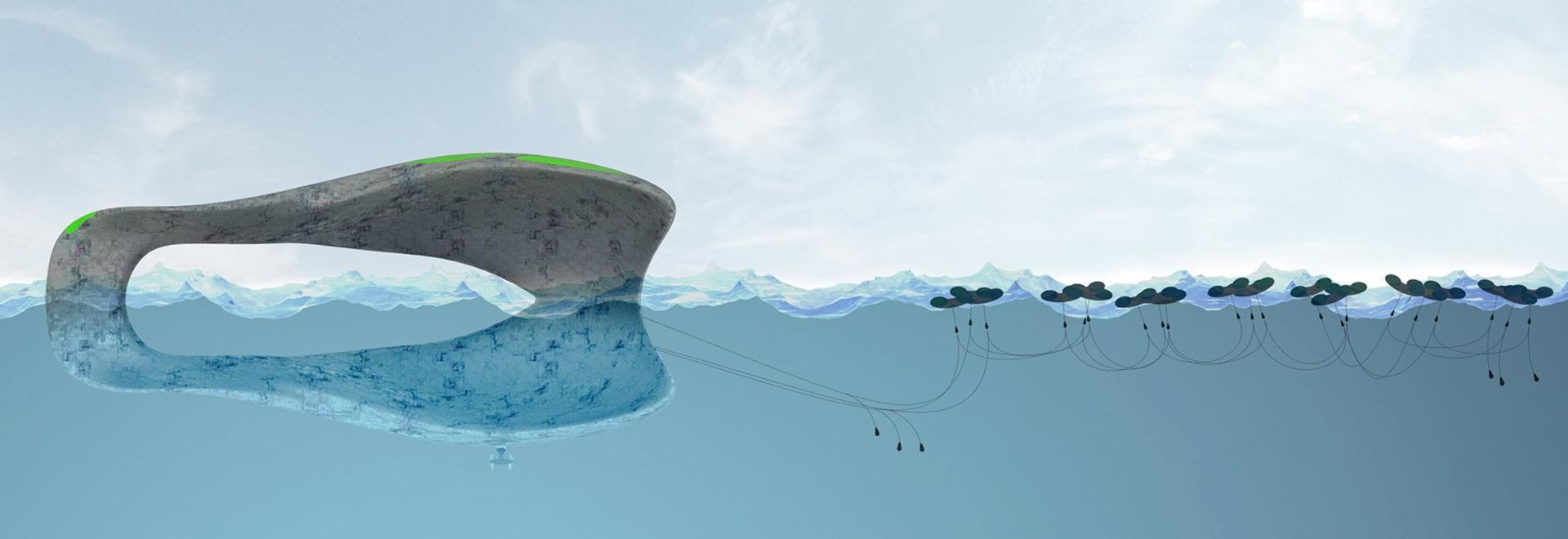 l'unità abitativa di galleggiamento flolony da hov offre vivere indipendente sul mare aperto
