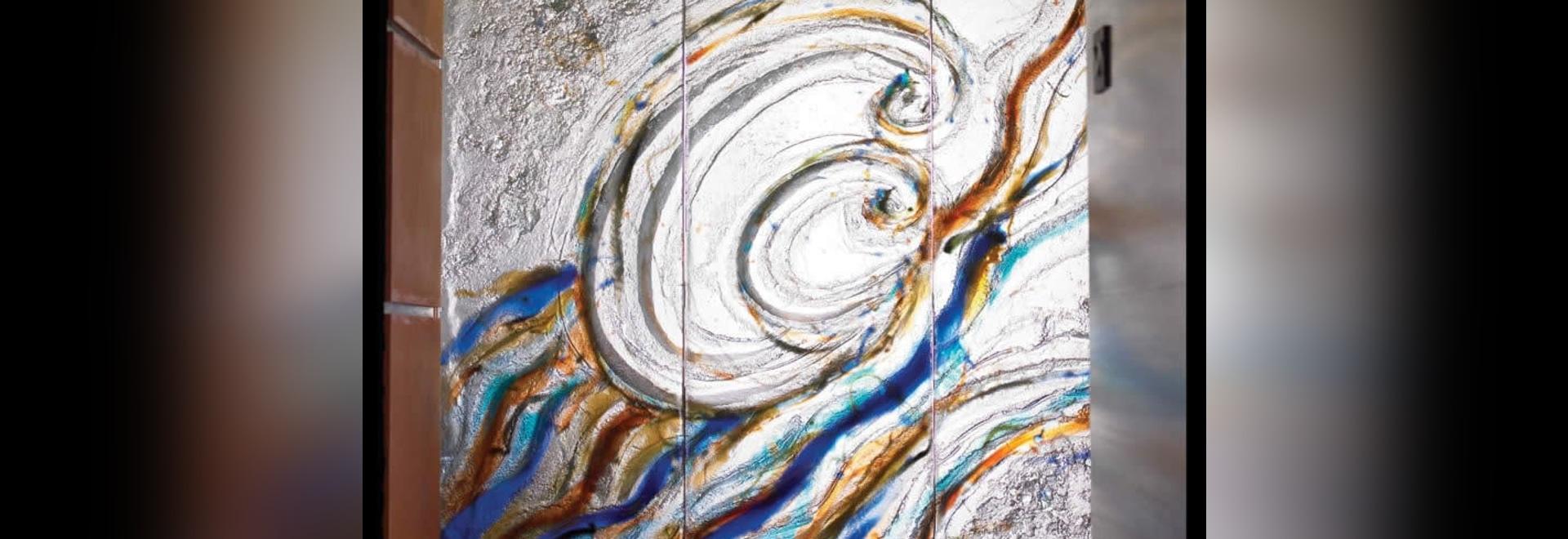 Vetro murale di arte