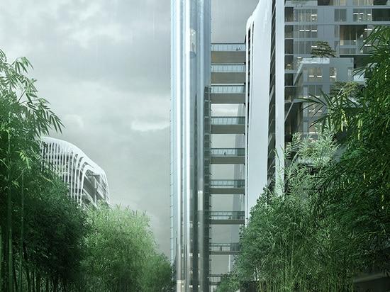 L'Himalaya di Nanjing Zendai concentra, architetti PAZZI proietta