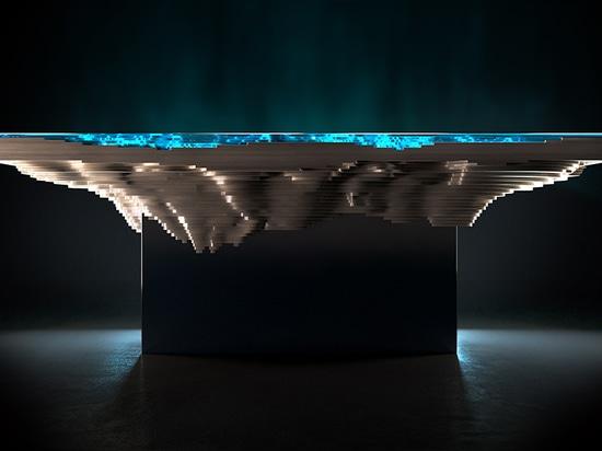 la configurazione dei materiali genera una sezione trasversale geologica come fascino come il mare