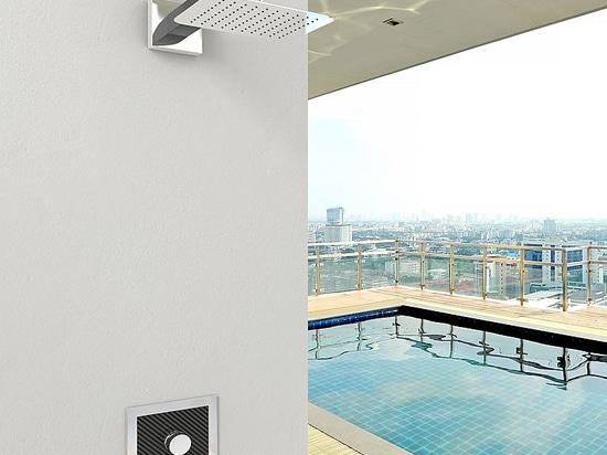 Sanremo la nuova doccia in fibra di carbonio da inoxstyle
