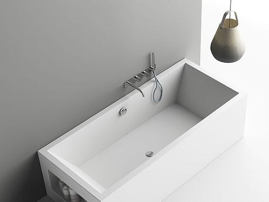 Vasca Da Bagno Su Misura : Planit presenta aquarius la vasca da bagno in corian r su misura