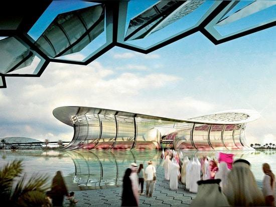 Adottivo + Partners il lavoro dello stadio di Lusail di vittorie per la tazza 2022 di mondo del Qatar la FIFA
